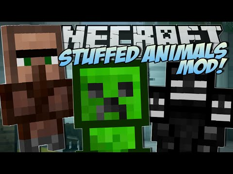 Minecraft | STUFFED ANIMALS MOD (Lucky Presents & Trayaurus