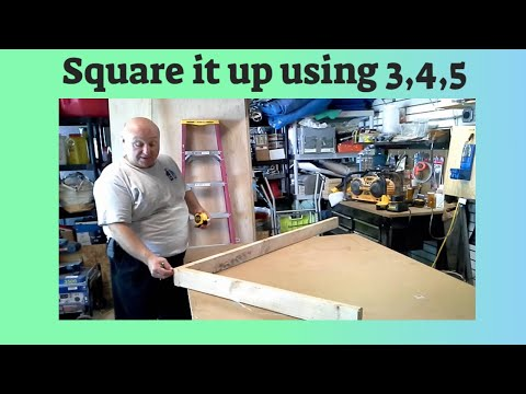 Square up a deck or wall using the 3 4 5 Rule