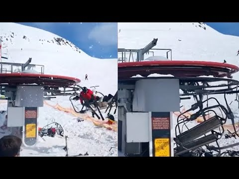 See Ski Slopes Turn Into A NIGHTMARE After This Crazy Accident!