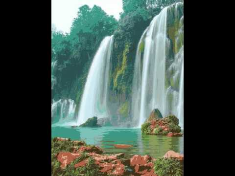 Waterfall Live Wallpaper with Sound 💦 Real Water Drops - YouTube