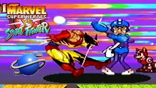 Marvel Super Heroes Vs. Street Fighter playthrough (SEGA Saturn)