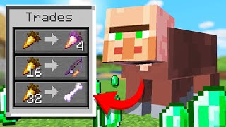 Minecraft but every mob has Villager trades...