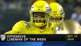 Ducks' lineman Penei Sewell collects third Pac-12 Offensive Lineman Player of the Week honors