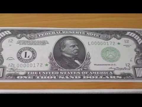 Wer war Grover Cleveland ? - Der 1.000 US-Dollar Schein