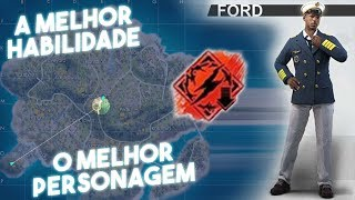 A melhor habilidade do Free Fire - Ford nível MÁXIMO, A partida inteira dentro do gás?!?!