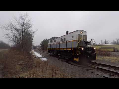 Depew Lancaster & Western ALCO S6 Rolling Into Batavia, NY 1-26-17