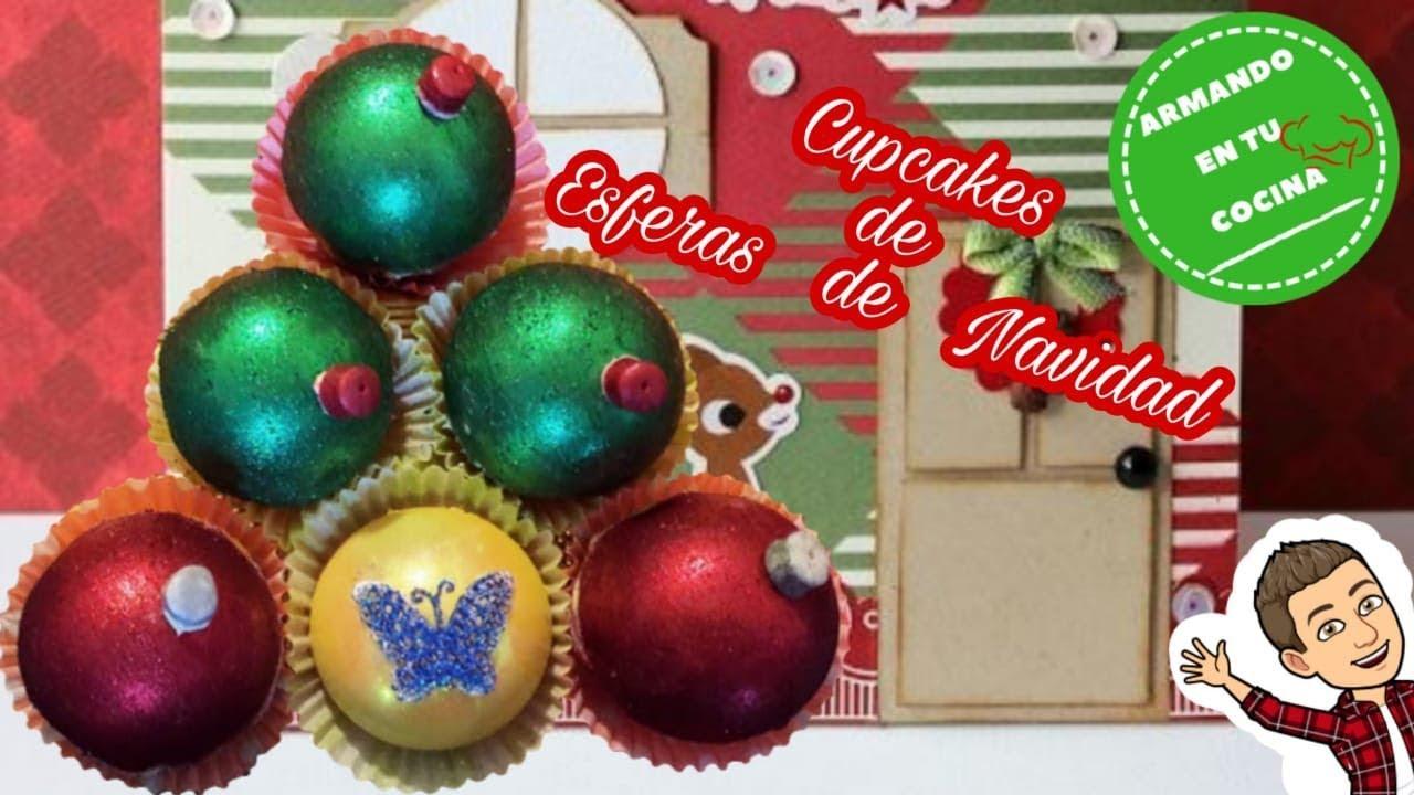 Cupcakes de esferas de navidad youtube - Esferas de navidad ...