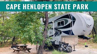 Cape Henlopen State Pąrk Campground in Lewes, Delaware