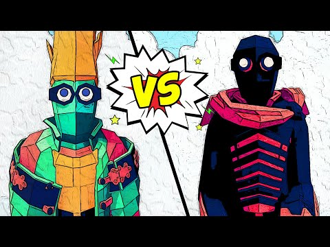 My INSANE HEROES vs VILLAINS Faction! Who Will Win? - TABS Totally Accurate Battle Simulator