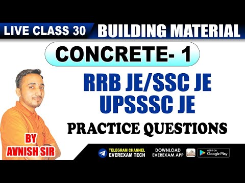 🔴 RRB JE | SSC JE | UPSSSC JE | Civil Engineering | Live Class#31| By Avnish SIR | EverExam