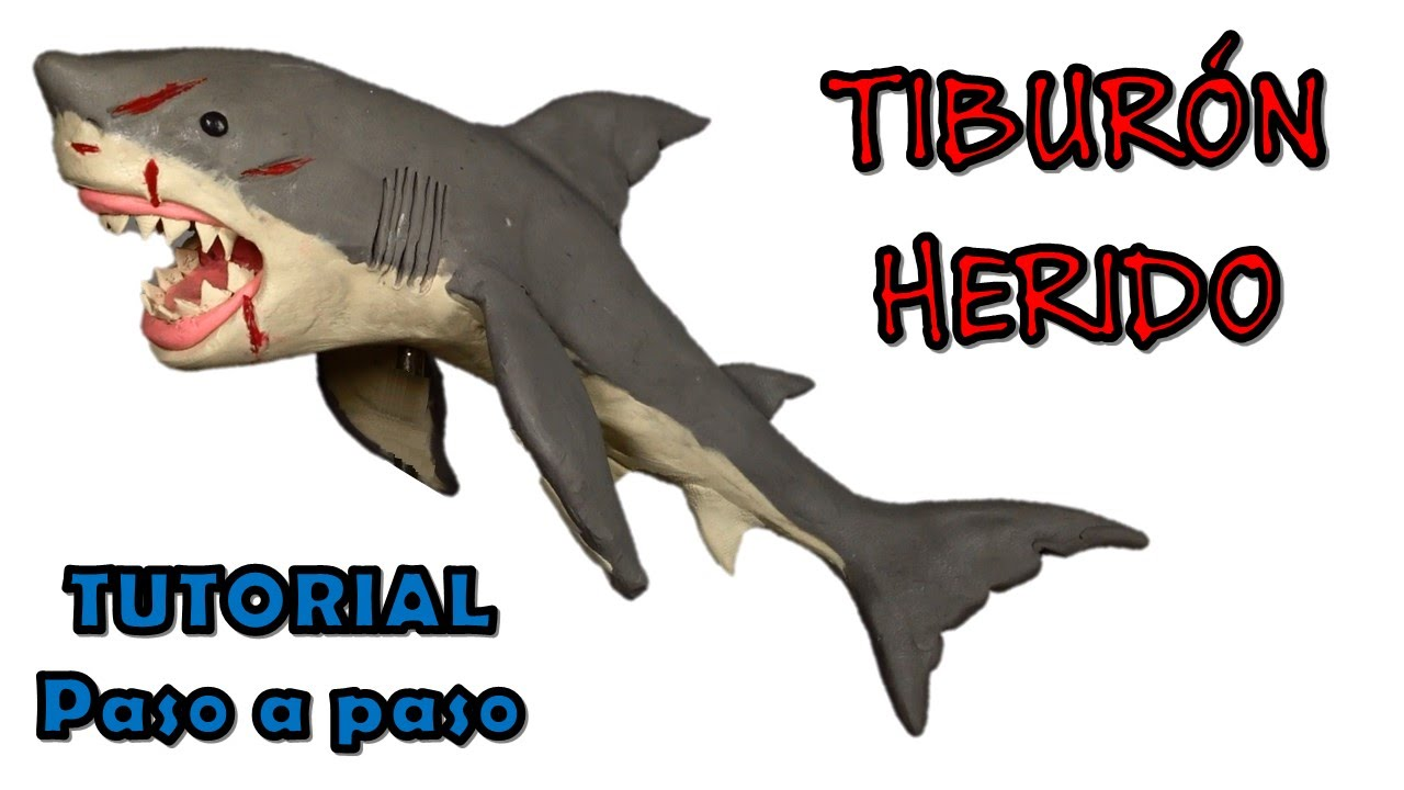 Como hacer un tiburon herido de plastilina / How to make a ...