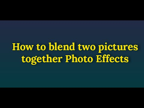 Photoshop CS6Tutorial: How to blend two pictures together ...