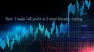 How I made 14% profit in 2 mins in intraday trading-23/6/2020