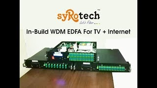 In-build WDM EDFA...For TV + Internet