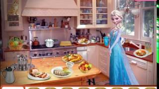 Мультик игра Холодное сердце: Эльза на кухне (Elsa In Vintage Kitchen)