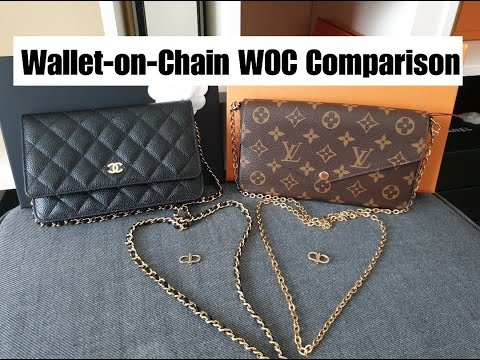 Wallet-on-Chain Chanel Vs LV | WOC Comparison | SLG | All.thingsluxe
