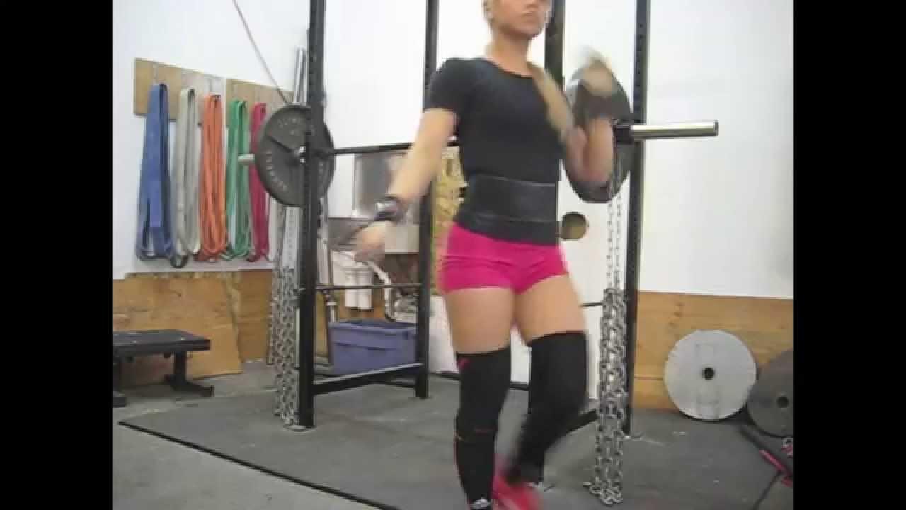 Kim (Valentine) Tran   285 Wrapped Squat, 140x2 Bench, Etc.   YouTube