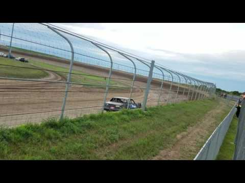 Jakob Egge Racing hobbystocks at Junction Motor Speedway 8/6/16 Heat race