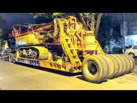 Scania Truck Transporting Drilling Rig SANY SR150C