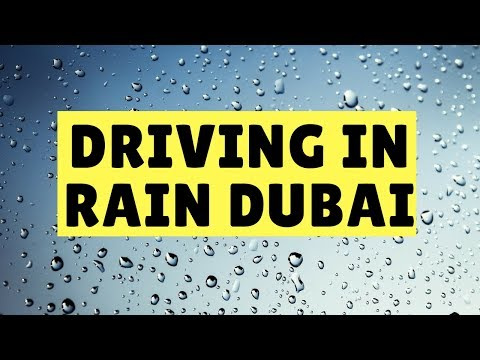 Driving in Rain Dubai after Belhasa Driving Center Driving Lesson to Hor Al Anz Deira Area