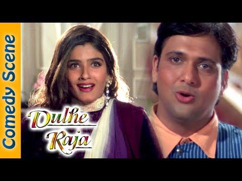 Govinda Comedy Scene Dulhe Raja Movie Johnny Lever Kader