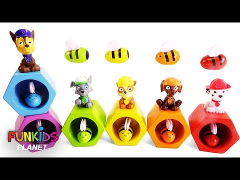Best Learning Colors Videos for Children: Paw Patrol Play with Magical Rainbow Bee Hive