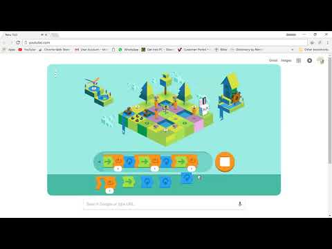 Google Doodle Celebration of 50 Years Kids Coding Game play...Full...