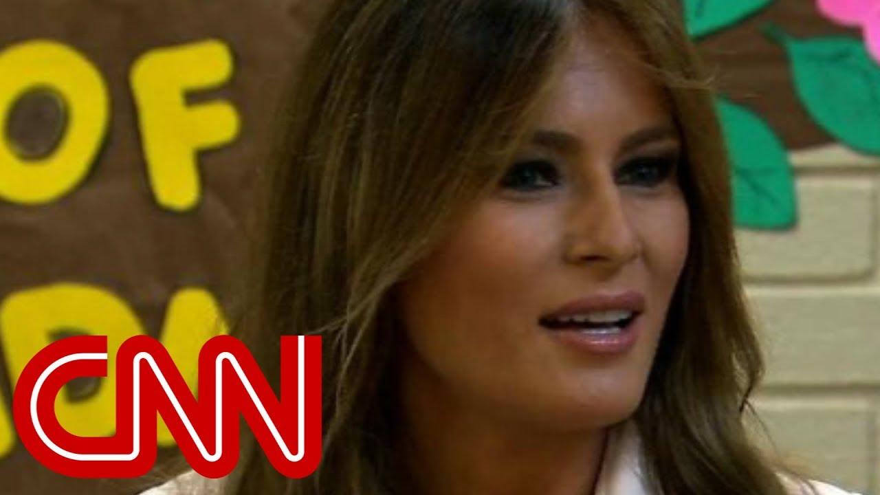 Melania Trump makes surprise visit to border - YouTube