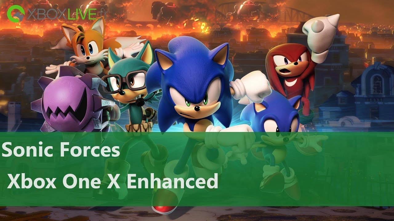 Sonic Forces Gameplay 4k Xbox One X Youtube