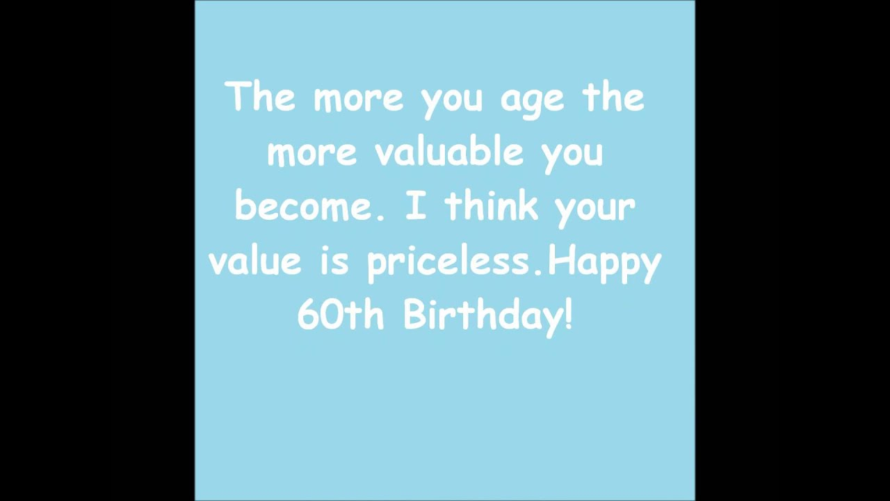 Happy 60th birthday greeting for a special person youtube happy 60th birthday greeting for a special person m4hsunfo