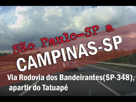 EM HD: São Paulo a Campinas via Rodovia dos Bandeirantes, apartir do Tatuapé
