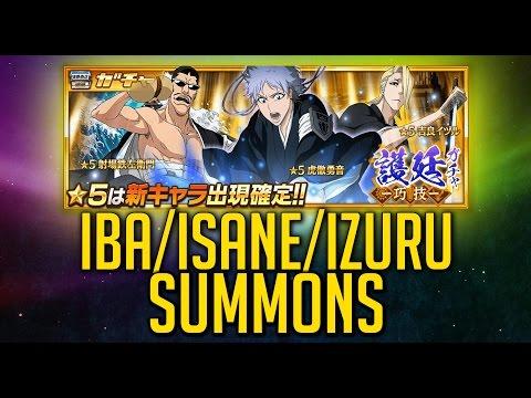 Bleach Brave Souls - Iba/Isane/Izuru Lieutenant Summons!