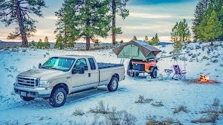 Roof Top Tent Camping High Desert