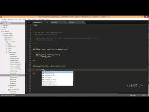 wordpress development - user login, register, query vars, template redirect, action