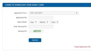 CTET 2019 admit card download now