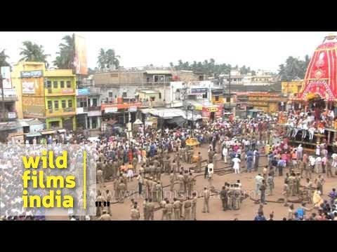 Jagannath temple Rath Yatra festival at Puri, Odisha