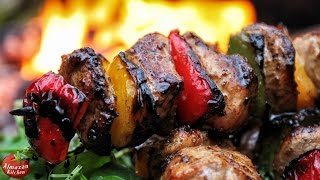 Best Chicken Souvlaki! - Cooking Outside