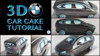 HOW TO MAKE A 3D BMW CAR CAKE | Abbyliciousz The Cake Boutique
