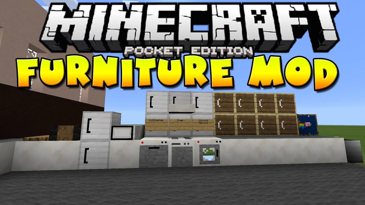 0 10 5 Furniture Mod Minecraft Pocket Edition Youtube