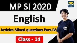 MP SI 2020 | English | Articles Mixed questions Part-IV
