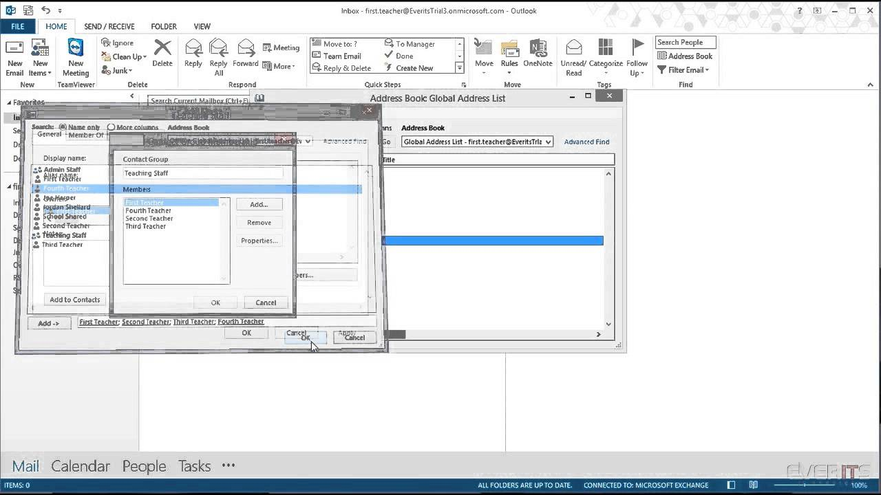 How to update distribution list in outlook
