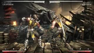 Mortal Kombat X Скорпион Ниндзюцу Комбо Урок