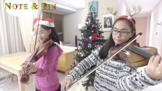 All I Want For Christmas Is You (Cover) - 3 violins & piano - (Note & Pin Sisters)