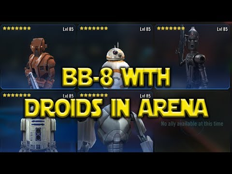 Star Wars: Galaxy Of Heroes - BB-8 With Droids In Squad Arena