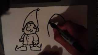 How to Draw an Elf - Easy Pictures to Draw