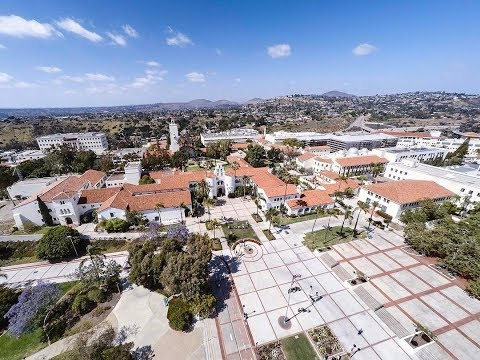 Aerial Footage of San Diego State University