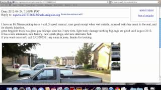 Craigslist Gold Country - Used Cars and Trucks and How to Avoid Scams