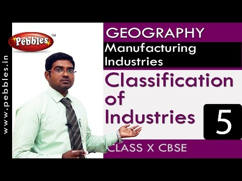 Classification of Industries| Manufacturing Industries | Geography | CBSE Class 10 Social Sciences