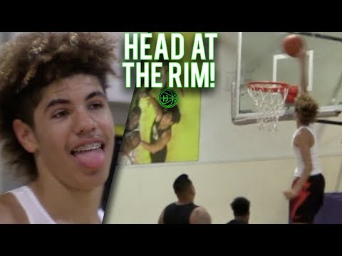 LaMelo Ball GETS HEAD AT THE RIM!?