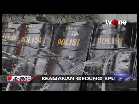 Proses Rekapitulasi Suara, Gedung KPU Dijaga Ketat Personel TNI Polri